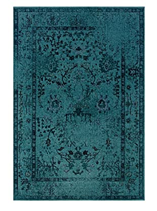 Granville Rugs Vintage Rug (Blue/Black/Brown/Purple)