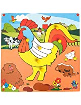 Skillofun Theme Puzzle Standard Rooster Knobs, Multi Color