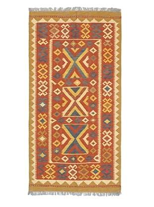 Hand Woven Anatolian Wool Kilim, Dark Copper, 3' 2