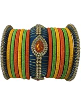 Colorful Trendz Handmade Multicolor Silkthread Bangles for Women 009 ( 2.4 )