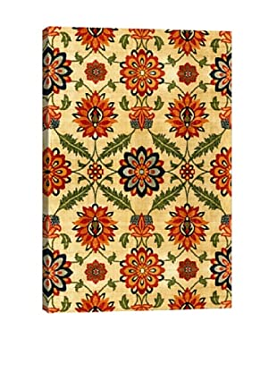 Velvet Silk Carpet India Mughal 17th Century Copy Islamic Art Giclée Canvas Print