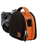 Vangoddy Nylon Orange Camera Pouch