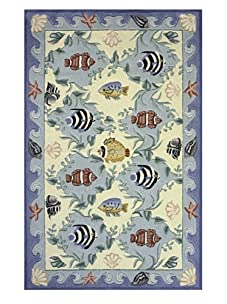 Lil Mo Fun Fish Rug (Blue)