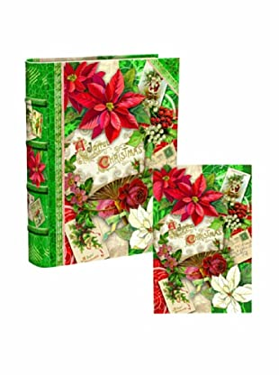 Punch Studio Bookbox Holiday Greeting Cards (Poinsettia)