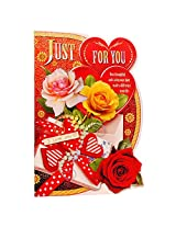 Valentine Just For You Beautiful Heart Card