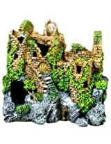 Exotic Environments Forgotten Ruins Aquarium Ornament, 7-1/2-Inch by 5-1/2-Inch by 7-Inch