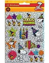 Eureka Peanuts Birthday Sparkle Stickers
