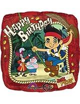 Anagram International Jake Pirates Birthday Foil Balloon, Multicolor By Anagram International