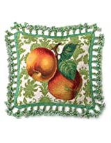 Peking Handicraft 18-Inch by 18-Inch Needle Point Pillow, Fruit