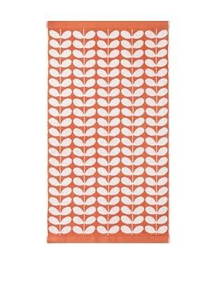 Orla Kiely Stem Jacquard Bath Sheet, Clementine