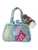 Aurora World Shimmery Fancy Pals Blue Plush Toy Pet Carrier with Music Note