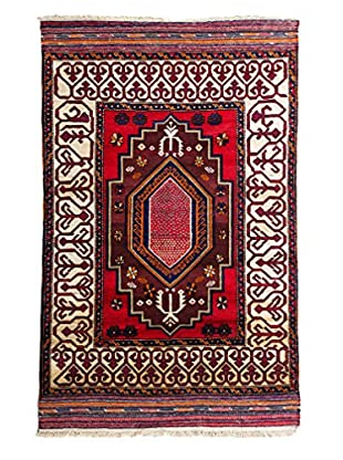 Tribal Collection Oriental Rug, Rust, 3' 10