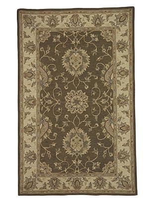 Kabir Handwoven Rugs Soumak Rug (Brown Multi)