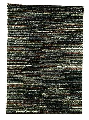 MAT the Basics Mat Mix Hand-Woven Shag Rug (Charcoal)