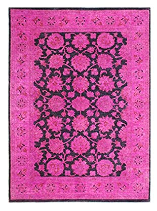 nuLOOM One-of-a-Kind Vintage Hand-Knotted Overdyed Rug, Magenta, 5' 3