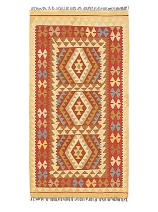 Hand Woven Anatolian Wool Kilim, Red, 3' 7