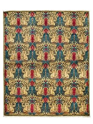 Darya Rugs Suzani Oriental Rug, Yellow, 5' 2