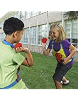 Fun and Exciting Dodgeball Game For Children - 2 Target Velcro Vests and 10 Sticky Balls