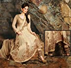 BEIGE BRIDAL GEORGETTE UNSTITCHED SALWAR KAMEEZ IN READY STOCK. 6501