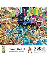 Ceaco Comic Relief Boston Tea Party Jigsaw Puzzle