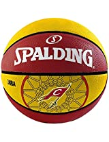 Spalding NBA Team Cavalier Basketball, Size 7 (Red/Yellow)