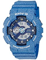 Casio Baby-G Analog-Digital Blue Dial Women's Watch - BA-110DC-2A2DR(BX049)