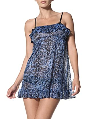 Betsey Johnson Women's Breezy Knit Slip (Tigress Rhythm/Blues)