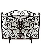 NACH Iron Fireplace Screen with Legs, Planter Design