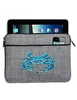 BLUE CRABS IPAD SLEEVE Blue Crab Tablet Case STYLISH PLAID