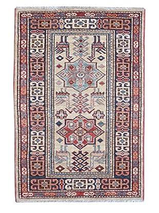 Kalaty One-of-a-Kind Kazak Rug, Ivory, 2' x 3' 3