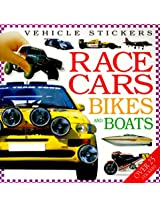 Vehicle Stickers: Race Cars, Bikes and Boats
