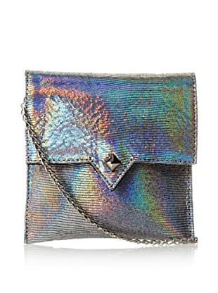 Possé Women's London Small Cross-Body, Silver Hologram
