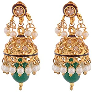 Ganapathy Gems Gold-Plated Jhumki For Women (Gold )