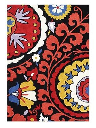 Alliyah Rugs New Zealand Wool Rug (Red/Yellow/Black Multi)