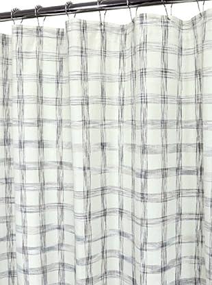 Park B. Smith Strie Check Shower Curtain, Ivory, 72