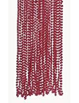 Red Metallic Bead Necklaces (4 dz)