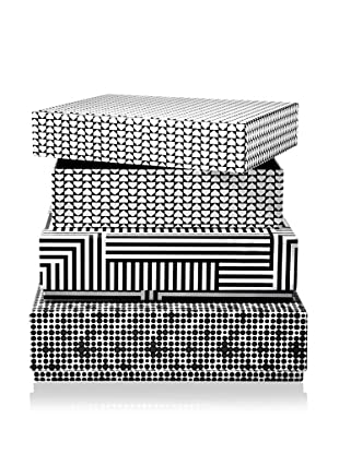 Kate Spade Saturday Set of 3 Paper Nesting Boxes