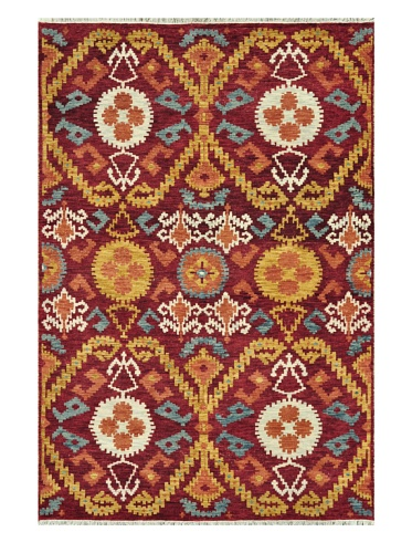 Loloi Rugs Spencer Collection Rug (Crimson/Gold)