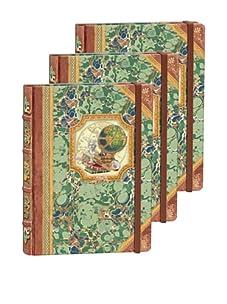 Punch Studio Set of 3 Library Journals (Globe)
