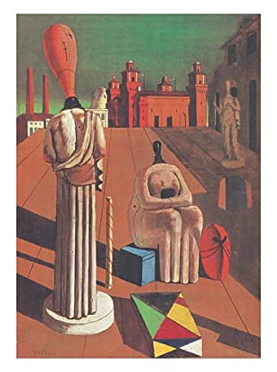 ArtopWeb Panel de Madera De Chirico le Muse Inquietanti
