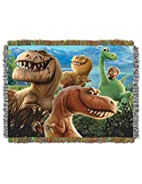 "Disney Pixar's The Good Dinosaur, Dino Mash Woven Tapestry Throw by The Northwest Company, 48"" by 60"""