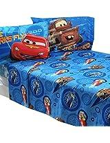 Disney Cars Polyester Microfiber Bedding Sheet Set, Size: Full