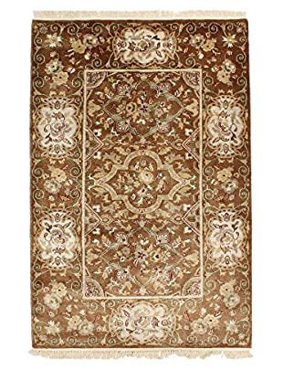 F.J. Kashanian One-of-a-Kind Hand-Knotted Scarlett Rug, Mocha, 4' x 6'