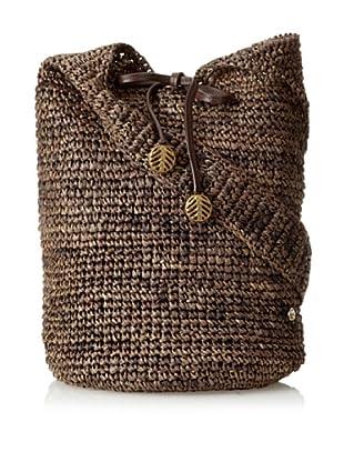 Florabella Women's Barbados Crochet Raffia Handbag, Mushroom