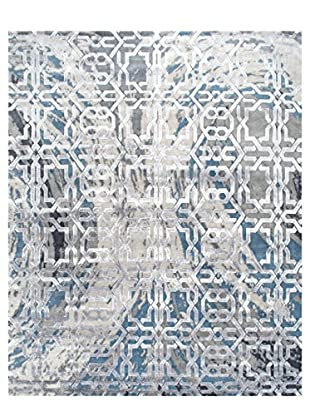 nuLOOM One-of-a-Kind Hand-Knotted Diedre Rug, Ivory/Blue, 8' 3
