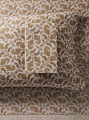 La Rochelle Grey Heather Flannel Paisley Sheet Set (Grey)