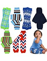 6 Pack Boys juDanzy leg warmers Pack of Stripes lizards clown patch surf boards soccer