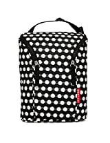 Skip Hop Baby Grab and Go Insulated Double Bottle Storage Bag with Attachable Stroller Straps and Freezer-Pack, Black Connected Dots