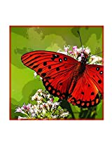 Leaf Designs Red Dotted Butterfly Trivet - Set Of 6