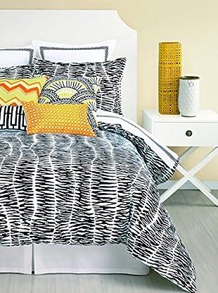 Trina Turk Zebra Stripe Duvet Set (Black)